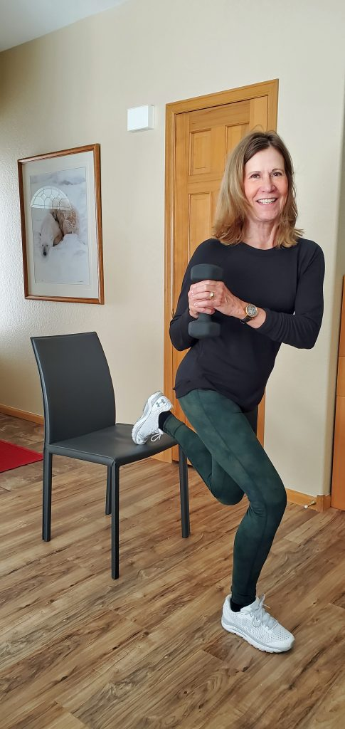 Split Squat with Rotation and Chair